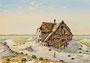 Wassermühle, 35x50, Aquarell auf Papier