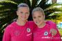 Alexandra Popp und Leonie Maier beim Algarve Cup 2014
