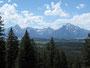 Grandios - Ausblick auf die Grand Tetons