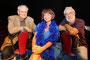 Kammerspielchen in Wuppertal mit Theaterleiter Ernst-Werner Quambusch, Evelyn Werner als Lola Blau (Musical von Georg Kreisler) und Regisseur Ronald F. Stürzebecher