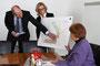 PG über das geplante DOC in Remscheid mit OB Wilding und Henning Balzer (links)