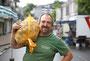 BM-Serie: Menschen vom Wochenmarkt in Hückeswagen. Kartoffelhandel Lothar Klimbke