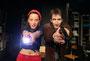 Probe zum Stück ´Zwei wie Bonnie und Clyde´  im WTT Remscheid mit Sabine Misiorny und Tom Müller