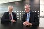 Wirtschaftsminister Garrelt Duin besucht die Firma Gira in Radevormwald. Wirtschaftsminister Garrelt Duin (links) & der technische Geschäftsführer der Firma Gira, Oliver Borchmann