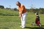 Udo Kiesling, Ex-Eishockey-Profi beim Benefizturnier im Golfclub Dreibäumen