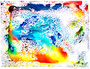 """""""Musik I"""" Gestringen, den 28.10.87, Nachträge-Werkverzeichnis, Wasserfarben auf Papier, b 40,0 cm x h 30,0 cm"""