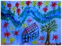 """""""Malen mit Julia"""" Gestringen, den 24.10.87, Werkverzeichnis 87, Wasserfarben auf Papier, b 40,0 cm x h 30,0 cm"""