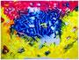 """""""Oase"""" Gestringen, den 28.10.87, Nachträge-Werkverzeichnis, Acryl auf Papier, b 40 cm x h 30 cm"""