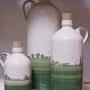 FlaschenSet mit Korken und Henkel, 0,5/1,3/2,5 Liter