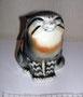 Дикий кот 1971 г. Б.Я Воробьев, роспись В.М.Жбанов. Роспись подглазурная полихромная, высота 14, 6 см. Марка: ЛФЗ красная.