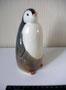 Пингвин  П.П.Веселов Роспись подглазурная  монохромная, высота  см. Марка: ЛФЗ синяя.