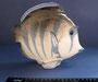 Рыба  хирург 1978 г. П.П.Веселов, В.М.Жбанов. Роспись подглазурная  полихромная, высота  18,6 см.Марка: ЛФЗ черная