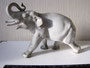 Слон серый большой 1954 г. Б.Я Воробьев. Подглазурная монохромная  роспись, высота 21см. Марка: ЛФЗ  зеленая, синяя 2с.