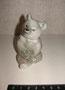 Мишка 1949 г. И.И.Ризнич Роспись подглазурная монохромная, высота 8, 6 см. Марка: ЛФЗ зененая по бисквиту.