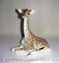 Жирафенок 1977 г. П.П.Веселов, В.М.Жбанов. Роспись подглазурная  полихромная, высота 13,5 см. Марка: ЛФЗ синяя, 1 с