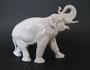 Слон 1954 г. Б.Я Воробьев. Бесцветная глазурь, высота21 см. Марка: ЛФЗ  синяя.