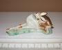 Олененок Бэмби лежащий 1948г. Е.И Чарушин. Роспись надглазурная полихромная, высота 4 см. Марка: ЛФЗ, без марки