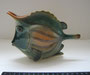 Рыба кузовок 1977 г. П.П.Веселов, В.М.Жбанов. Роспись подглазурная  полихромная, высота  13 см. Марка: б/марки