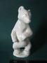 Медвежонок 1960-е гг. И.И.Ризнич Бесцветная глазурь, высота 20 см. Марка: ЛФЗ серая