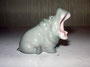 Бегемотик маленький  1949 г. Б.Я Воробьев.  Роспись подглазурная полихромная, высота 3,5 см. Марка: без марки