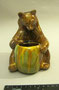 Медведь с бочонком. Гжельский экспериментальный керамический комбинат. Автор В.А.Ватагин.
