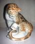 Леопард 1968 г. П.П.Веселов, роспись  В.М.Жбанов. Роспись подглазурная полихромная, высота 17,5 см. Марка:б/марки.