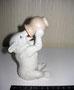 Мишка с кринкой Сысерский  завод керамических изделий, модель 1966 г. Автор А.Г.Сотников. Роспись подглазурная,  высота 12,5  см. Марка: б/марки