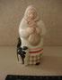 Бабушка с котенком Дмитровский фарфоровый завод,1960-е гг. Автор  Розов Н.И.  Роспись подглазурная полихромная, высота 11,4 см. Марка: ДФЗ красная.