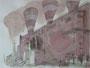 """Дым"", 2007, бумага, граф. карандаш, акварель, 42x59,5 cm"