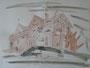 """""""Рабочий городок"""", 2007, бумага, граф. карандаш, акварель, 42x59,5 cm"""