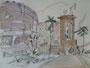 """Санаторий"", 2007, бумага, граф. карандаш, акварель, 42x59,5 cm"