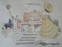 """""""Школьный двор"""", 2007, бумага, граф. карандаш, акварель, 42x59,5 cm"""