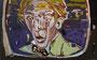 Szene 6 (Leicht verzerrtes Gesicht), 2008, Öl auf Leinwand, 100x160 cm