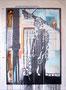 Tafel 4 – Bildnis; Öl und Acryl auf bedrucktem Papier, kaschiert auf seitlich mit Aluminium gerahmtem Holzgestell; 184,5 x 134,0 x 5,0 cm; 2015