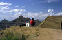 Eines der großen Highlites: Angel Peak BLM Campground unmittelbar an der Kante eines Steilabbruchs zu fantastischen Badlands im Norden New Mexicos südl. von Farmington - San Juan Basin)