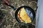 Denver-Omlett (Zwiebeln, gr. u. rot. Paprika, gek.Schinken)