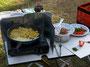 Kartoffel-Gemüse-Pfanne in Arbeit