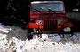 Tja, ein doofer Jeep ohne Sperre ist Mist! - Buddeln ist angesagt - dafür ist es schön kühl!