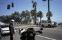 1. Mai: Angekommen in L.A.: Spritztour nach Santa Monica. Heftiger Sturm.