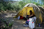 Apache Trail, Zeltplatz irgendwo in der Botanik