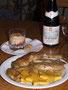 Maispoularde auf Chicoree in Portweinsauce mit Polenta