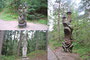Wood sculptures of Lithuanian fairytale characters, witches mountain, Juodkrante, Lithuania - from Loreta