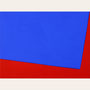Roter Stoff, Pigment - Ultramarinblau - 30 x 40 cm, 2007