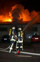 Brandeinsatz Holzhandel