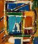 Ohne Titel - 2008 - Acryl auf Papier - 28,5 x 25,2 cm