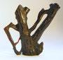 Netsuke 1208 aus einem Korallenstück - Unimatsu Zweig - schwarze jap. Koralle  äußerst selten - mit graviertgen Text vorne und hinten  Edo Zeit - 2. H 19.Jh. um 1860  signiert vgl Photo  ca 40x45x11 mm 10,3  565,00 EUR