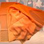 11.) Chorschal mit Farbverlauf Farbe orange - Feld Textil GmbH aus Krefeld - https://www.krawatten-tuecher-schals-werbetextilien.de/