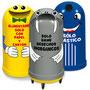 IGLU 200 polietilenode media densidad. • Diseńada para cubrir bote de plástico (TAM-200) ó metálico de 200 litros. • Aberturas para desechos con formas diferentes. • Etiqueta distintiva para identificación de desechosDiámetro 70.0 cm., alto