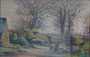 Paysage, pont, (couleur) env. 1949 (aquarelle, coll. part. HMC)