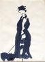 La dame au chien à Brest, env.1955 (encre, 31 x  24 cm, coll. part. FGD)